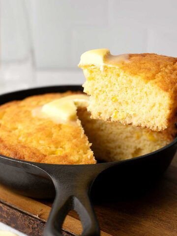 cornbread for two.