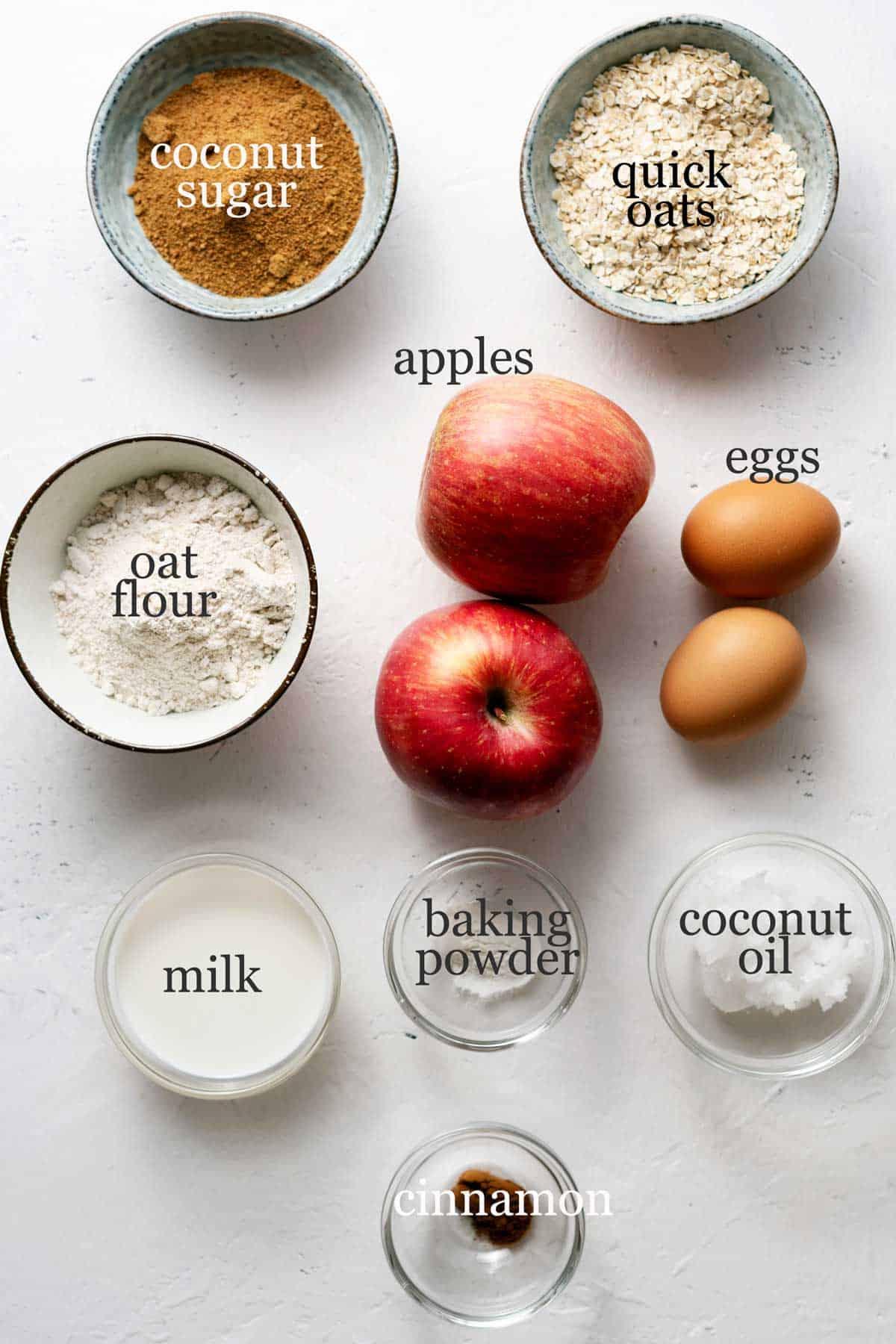 healthy apple cake ingredients.