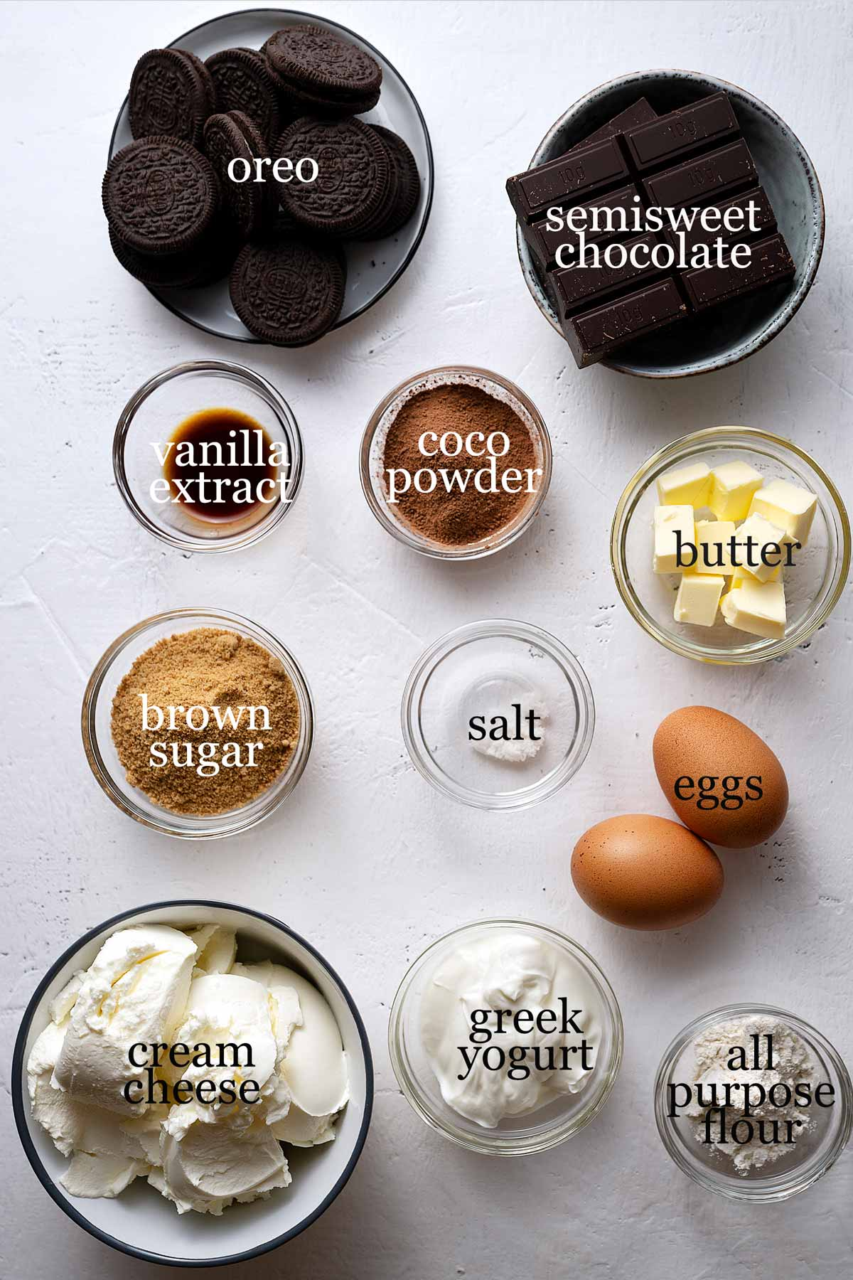 chocolate cheesecake ingredientes.