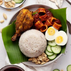Nasi lemak and all its trimmings