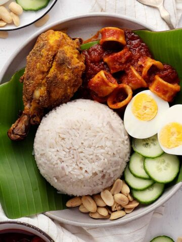 Nasi lemak with all its trimmings