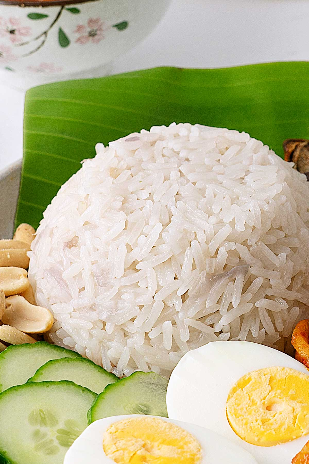 rice cooked with coconut milk.