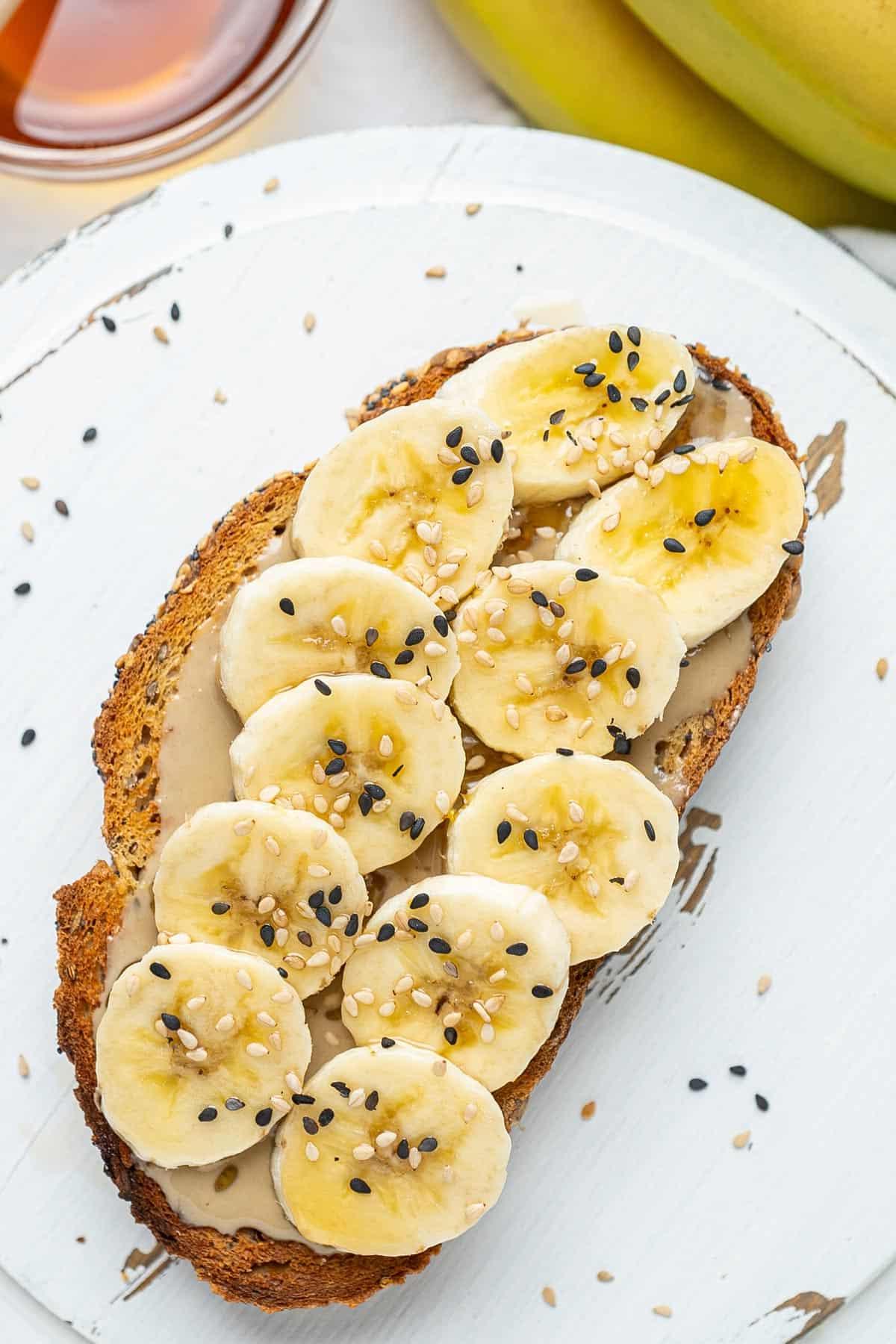 Banana tahini toast